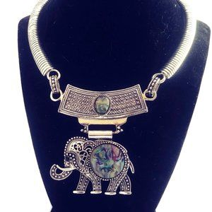 Elephant Mother of Pearl Choker NWT